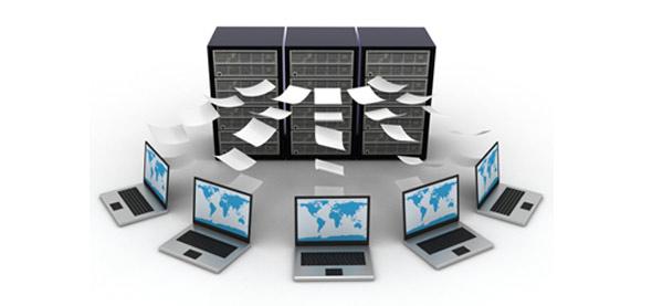 Illustrations de fichiers stockés dans des datacenters